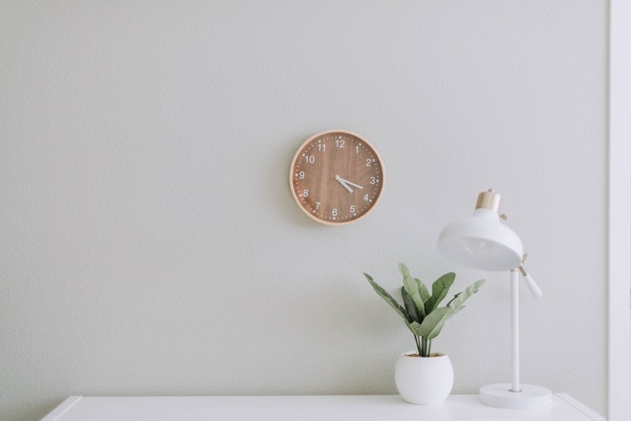Wooden Clock on The Wall
