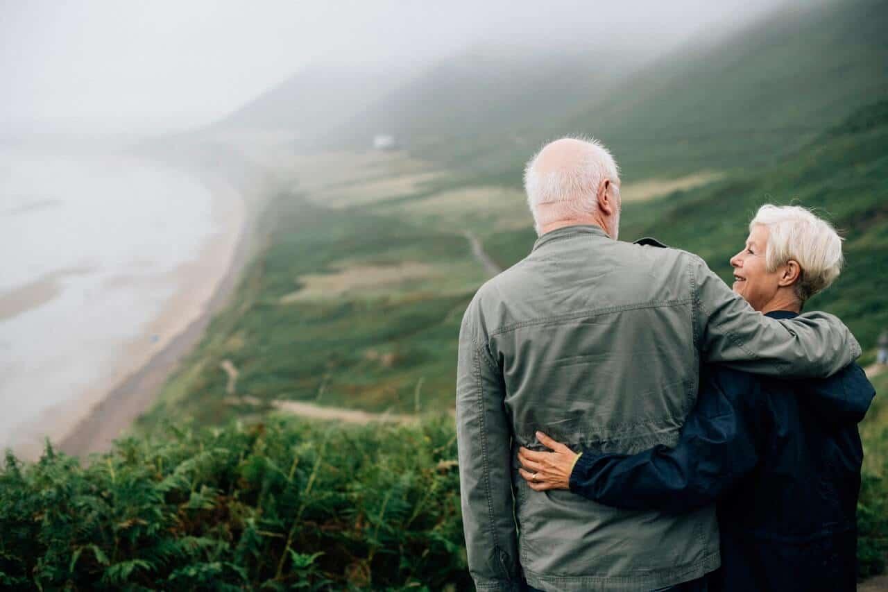 adorable elderly couple