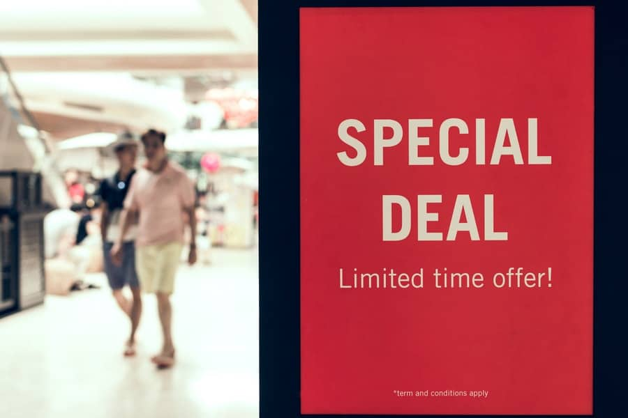 special discount deal