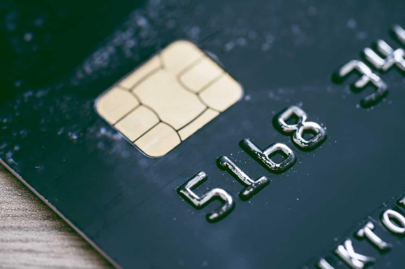 Bank Credit Card Close Up