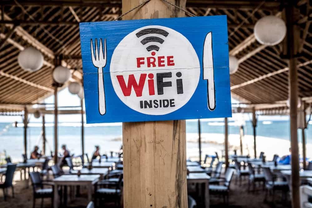Free Wifi inside sign