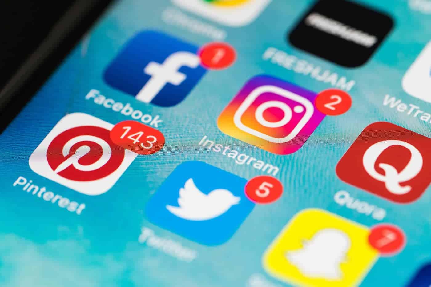 Instagram App on Phone Screen