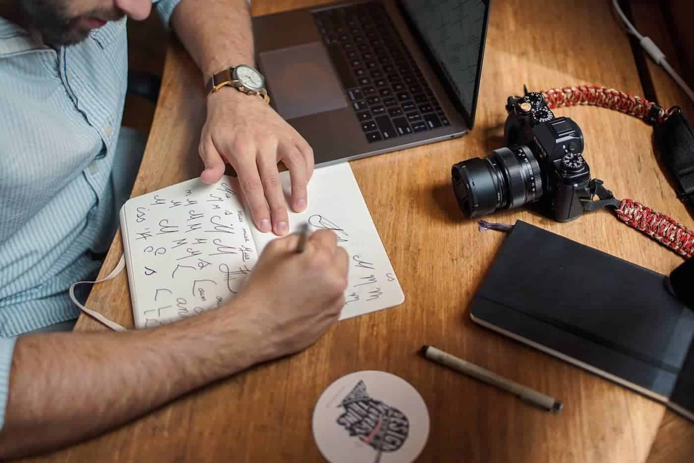 Man Creating a Brand Identity