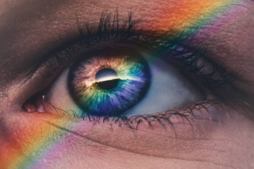 Rainbow on a Human Eye