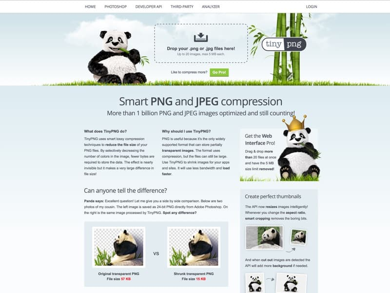 Make your website faster and save bandwidth. TinyPNG optimizes your PNG images by 50-80% while preserving full transparency