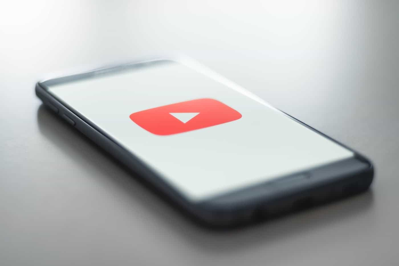 Youtube icon on a smartphone screen