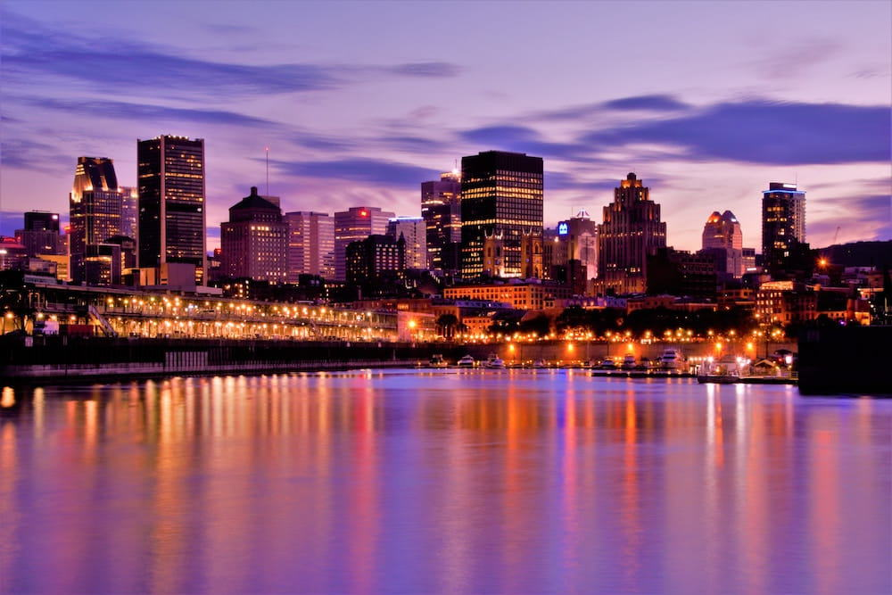 montreal canada during evening