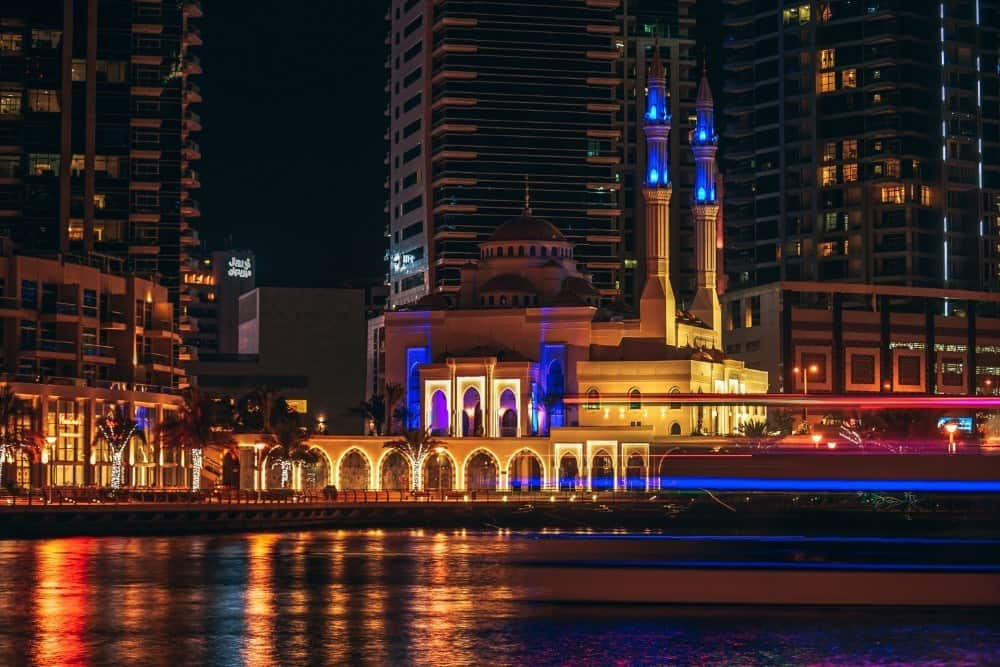 Beautiful Night Photography of the Dubai Marina