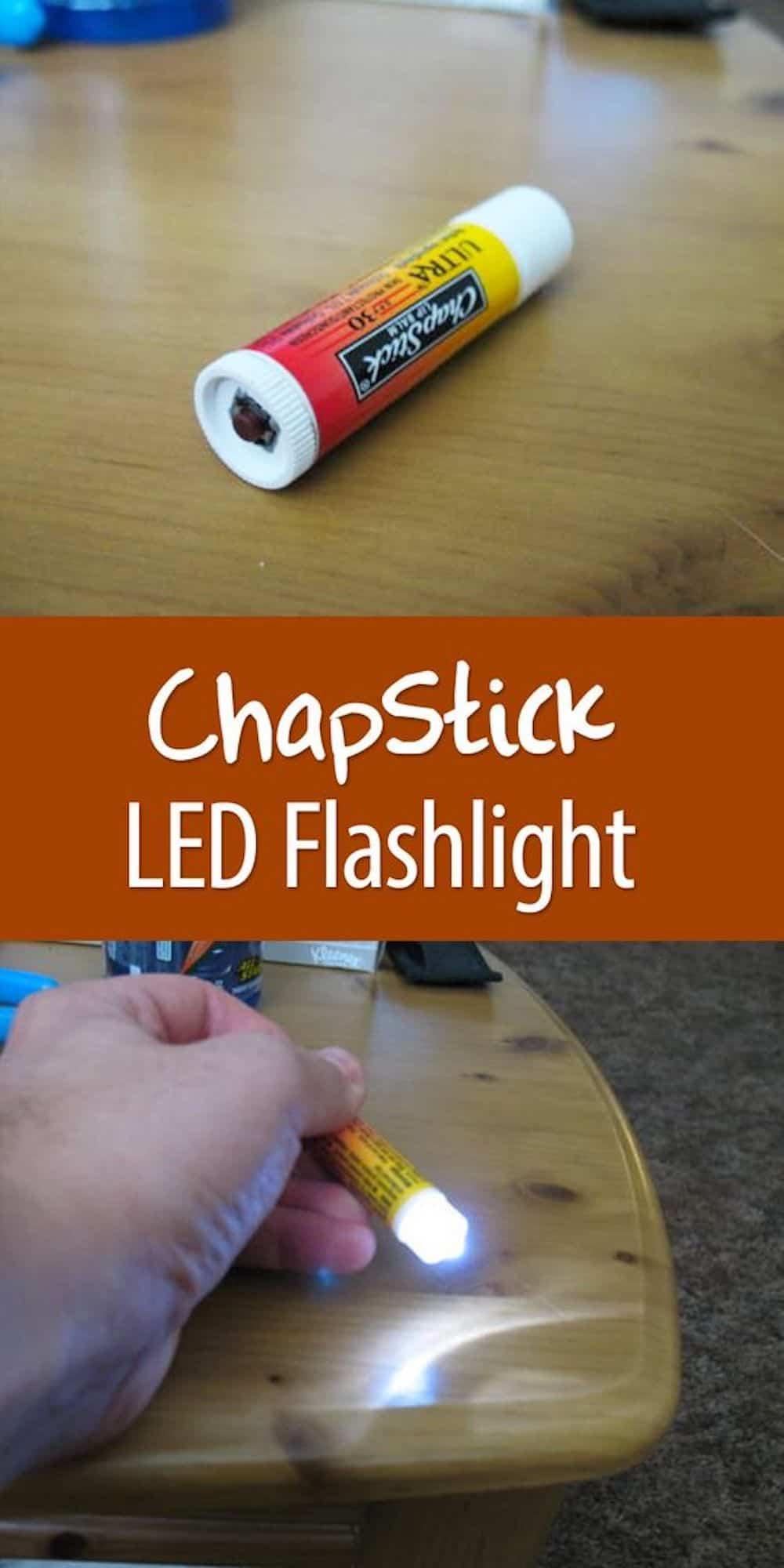 Chapstick Flashlight