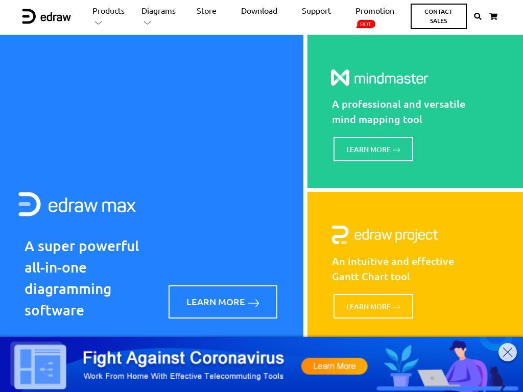 edrawsoft website screenshot