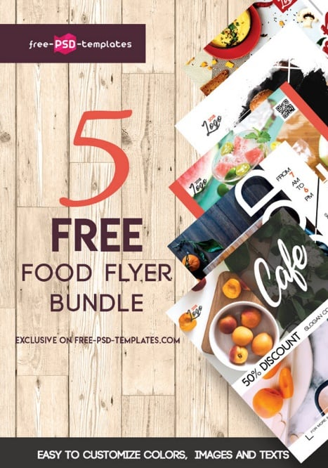 5 free food flyer bundle