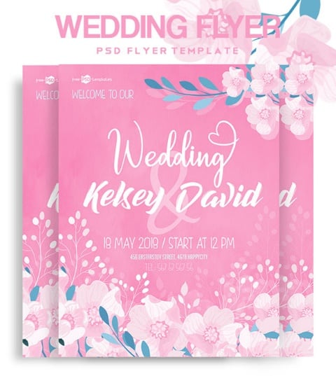 FREE WEDDING FLYER IN PSD