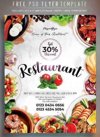 Restaurant – Free Flyer PSD Template