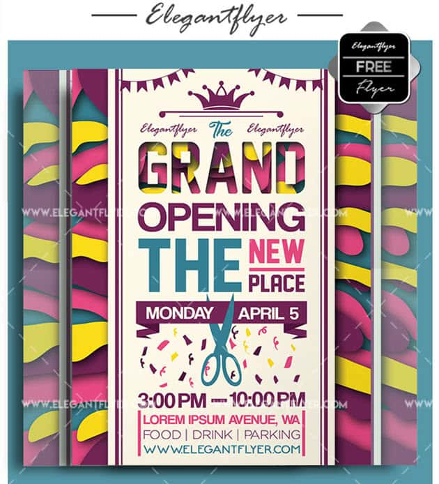 Restaurant opening – Free Flyer PSD Template