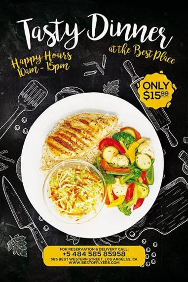 Tasty Dinner Free Poster Template