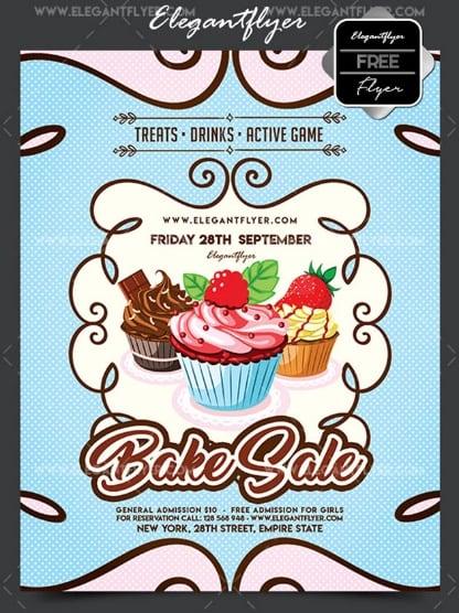 Free Flyer For Bake Sale