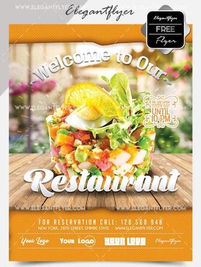 Free PSD Flyer for Italian Restaurant