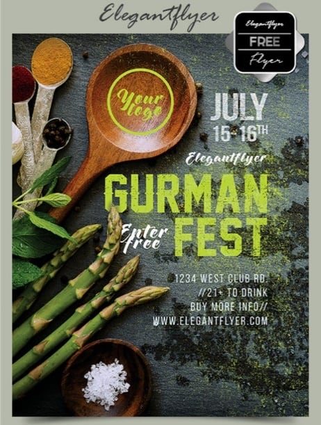 Gurman fest – Free Flyer PSD Template