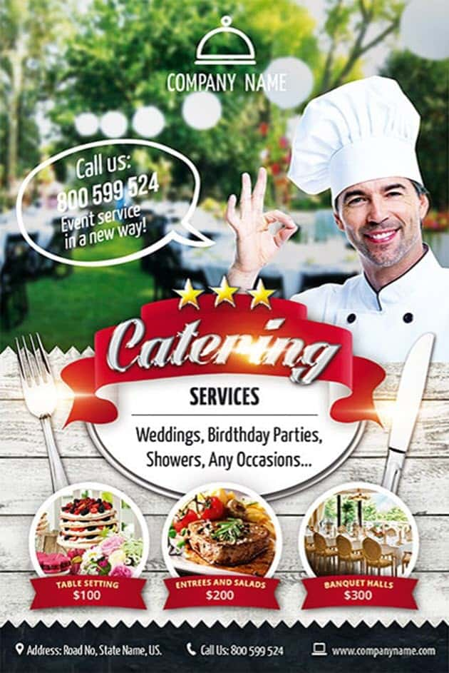 Catering Service Free Flyer Template