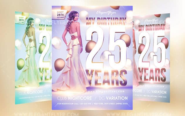 Free Birthday Party – Flyer PSD Template