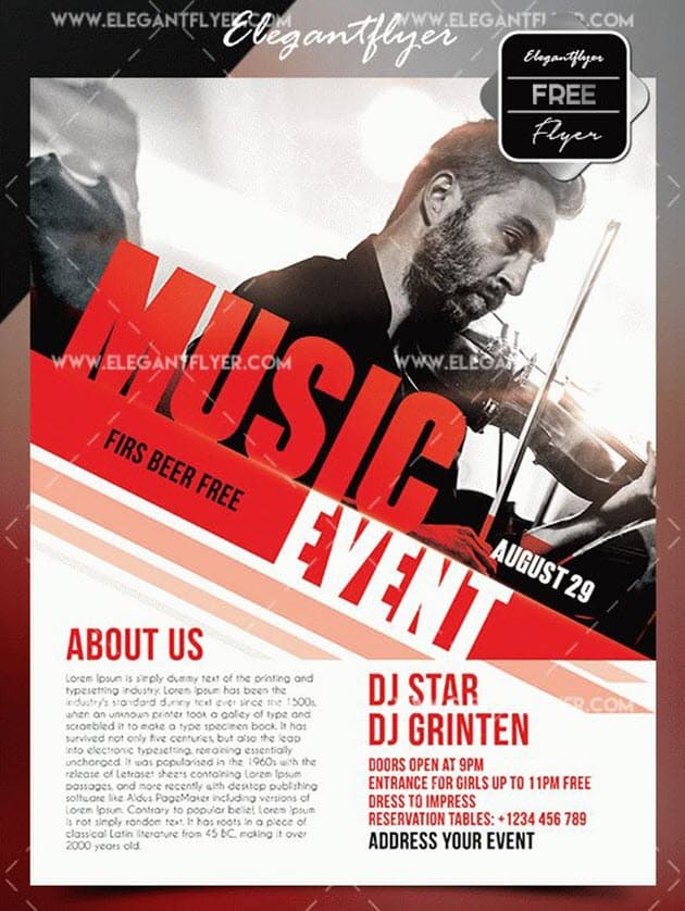 Free Music Event Flyer Templates