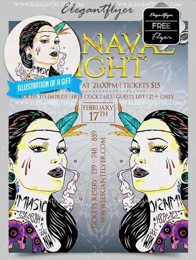 Carnaval Night – Flyer PSD Template