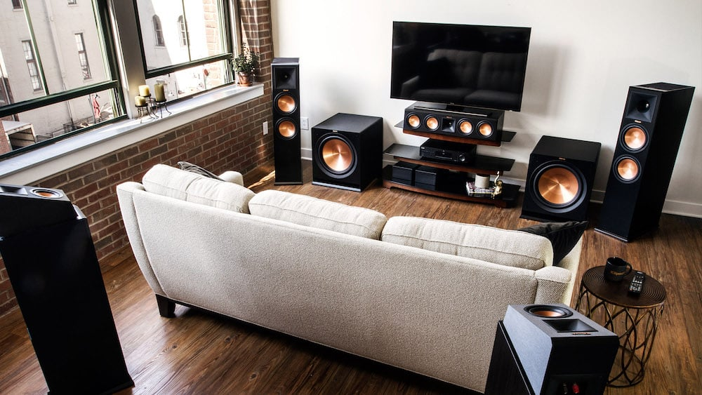 white home theater