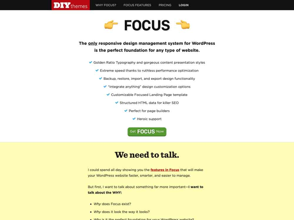 DIYthemes — Make your site FAST with Focus for WordPress