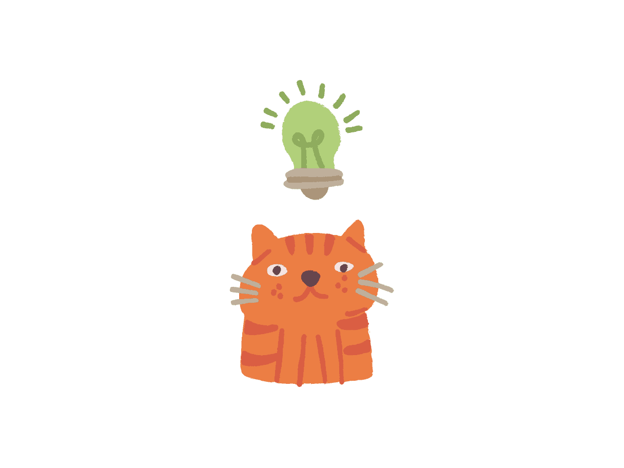 Ginger Cat With a Good Idea