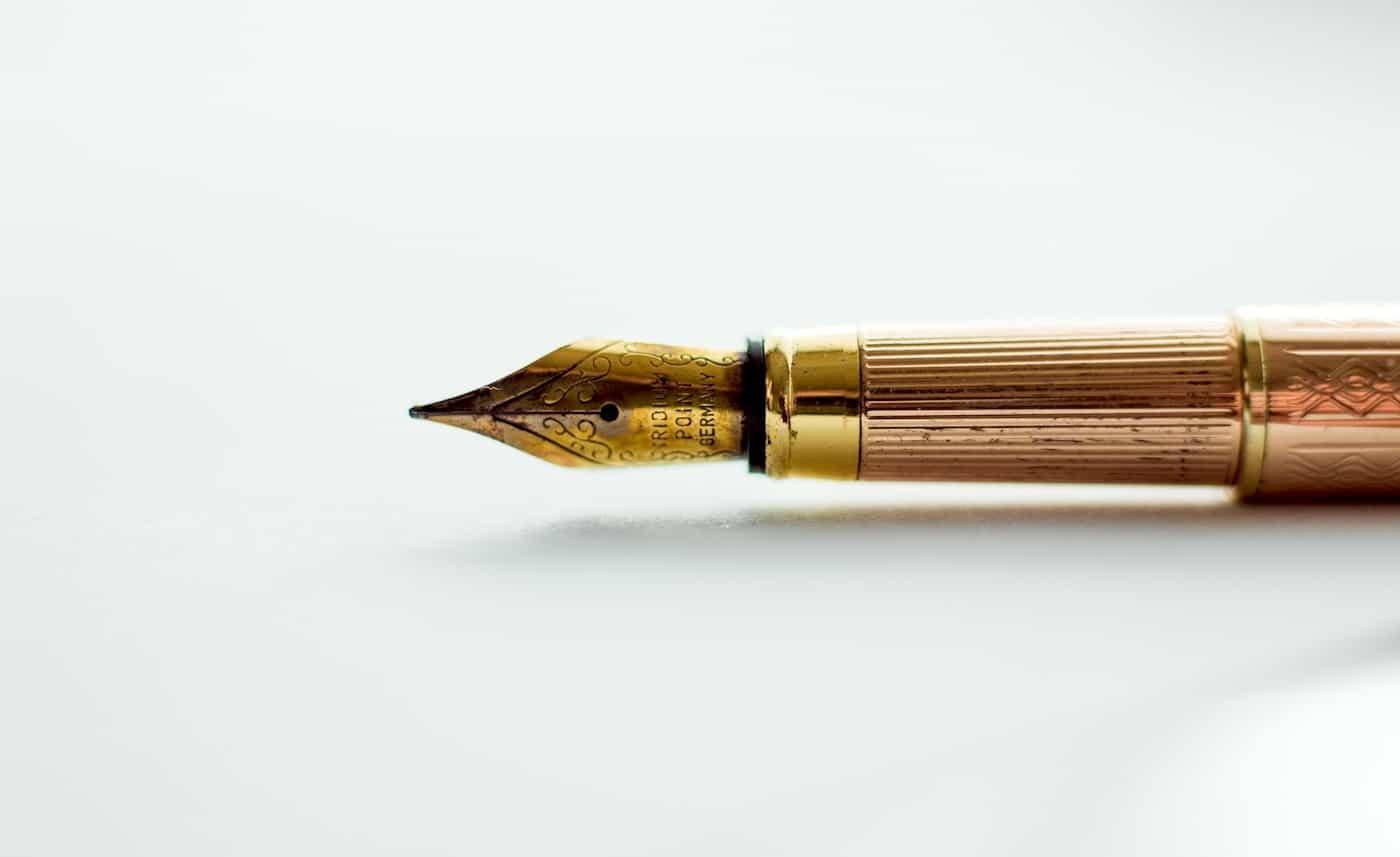 Gold Ink Pen