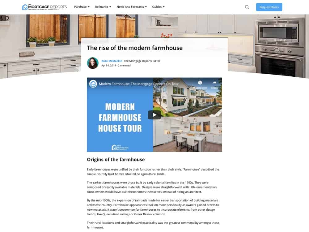 The rise of the modern farmhouse   Mortgage Rates, Mortgage News and Strategy -The Mortgage Reports