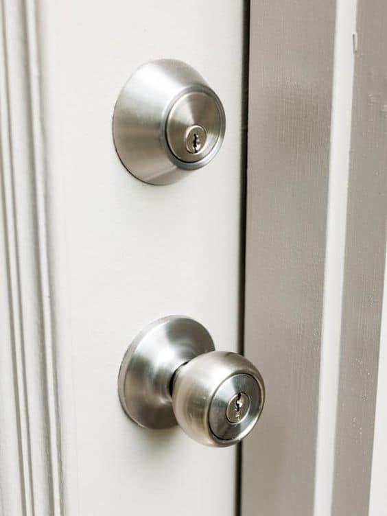 a deadbolt lock