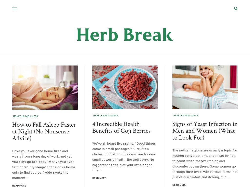 herbbreak website screenshot