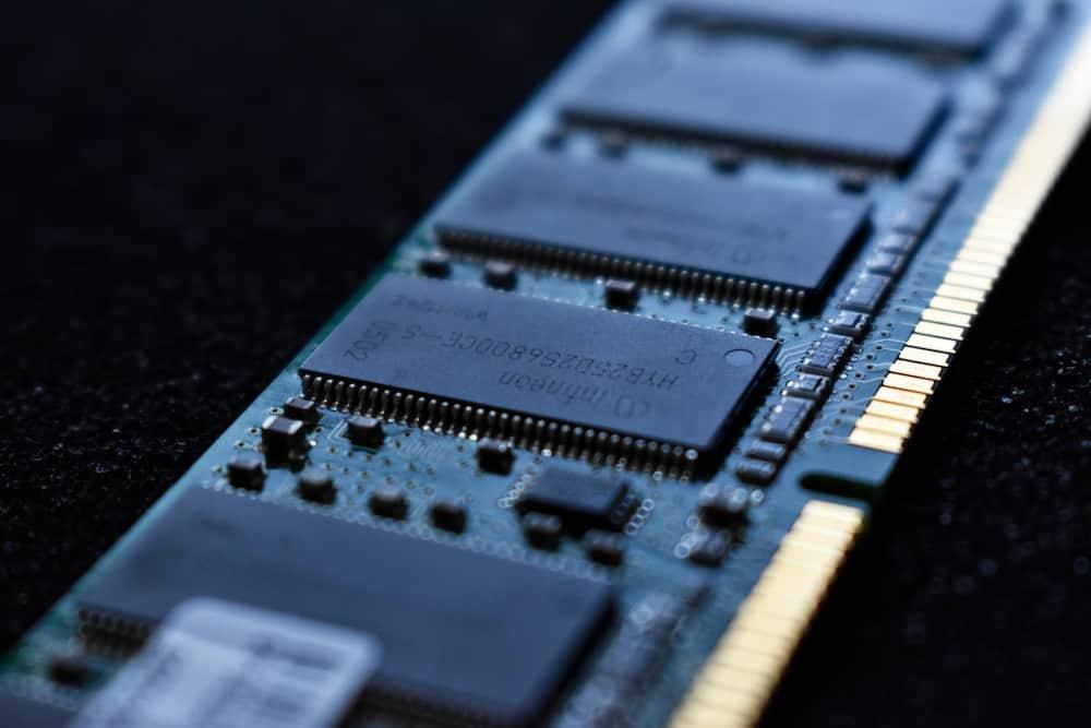 macro shot photo of a computer RAM