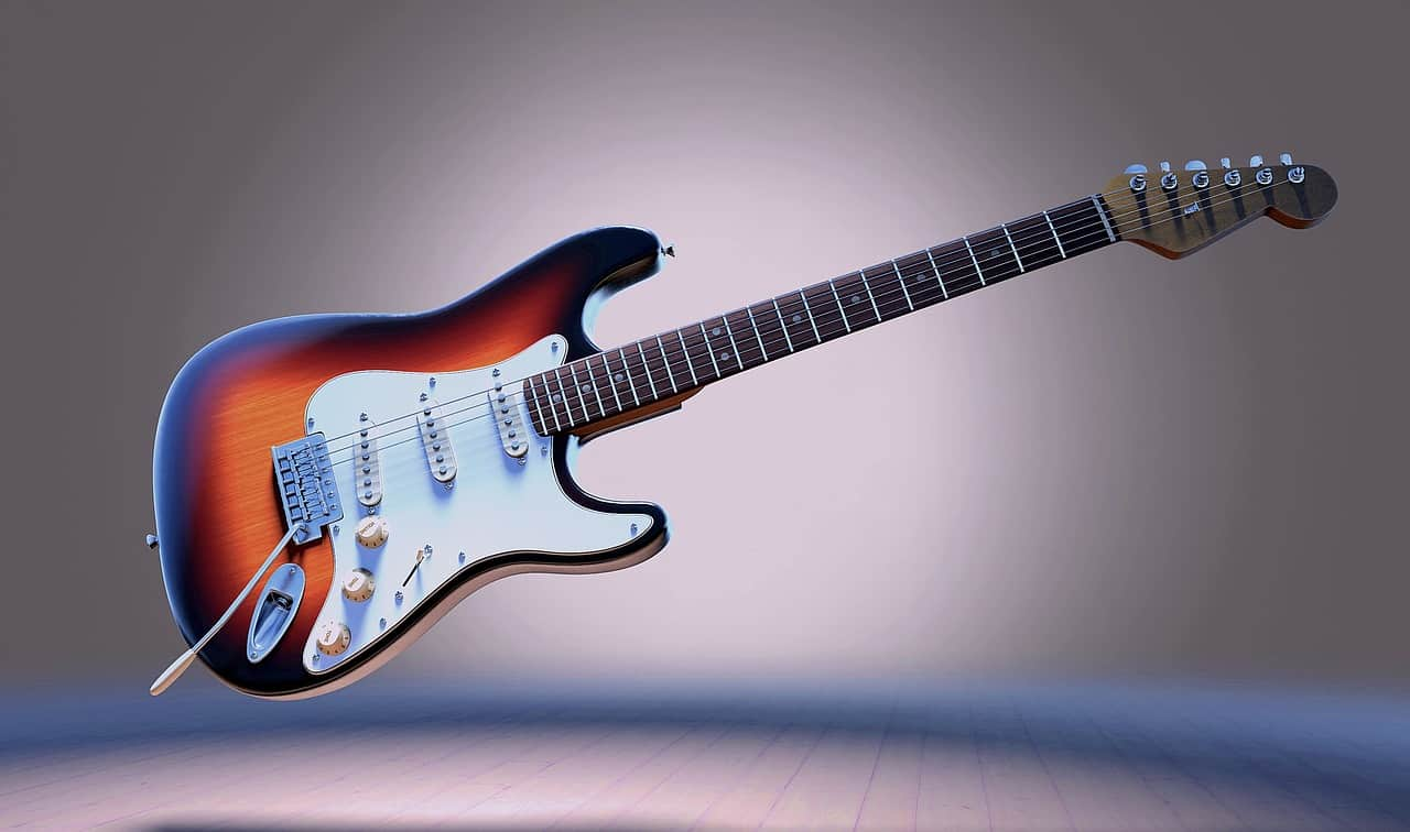 3D Rendered Electric Guitar