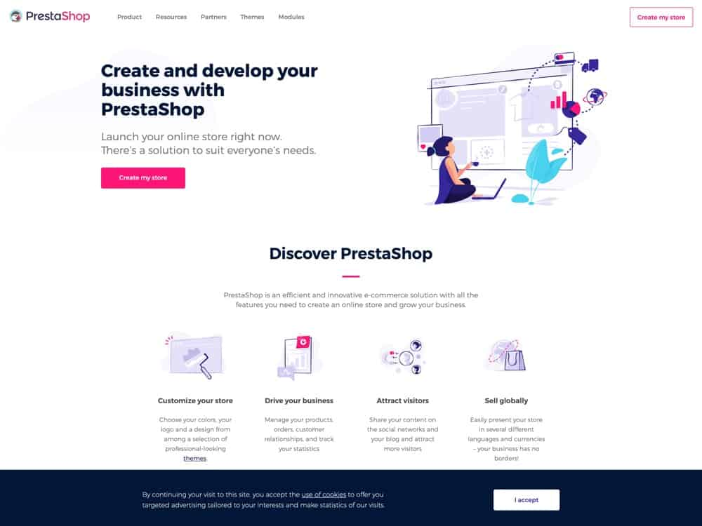 Create and develop your business with PrestaShop