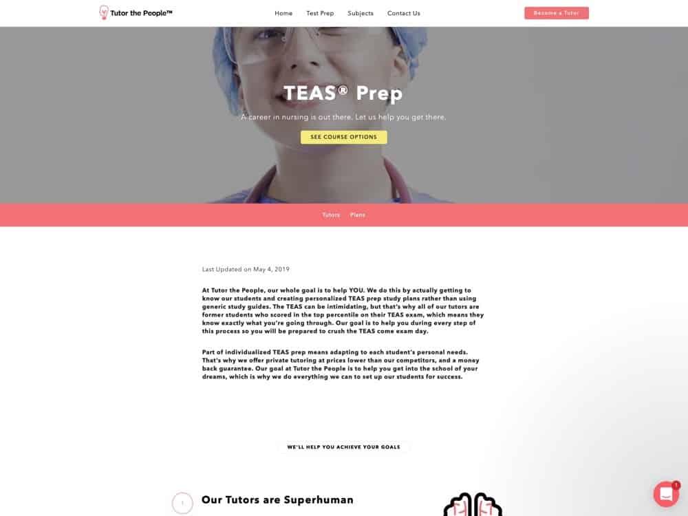 TEAS Prep   Private TEAS Tutors   Tutor the People - Tutor the People