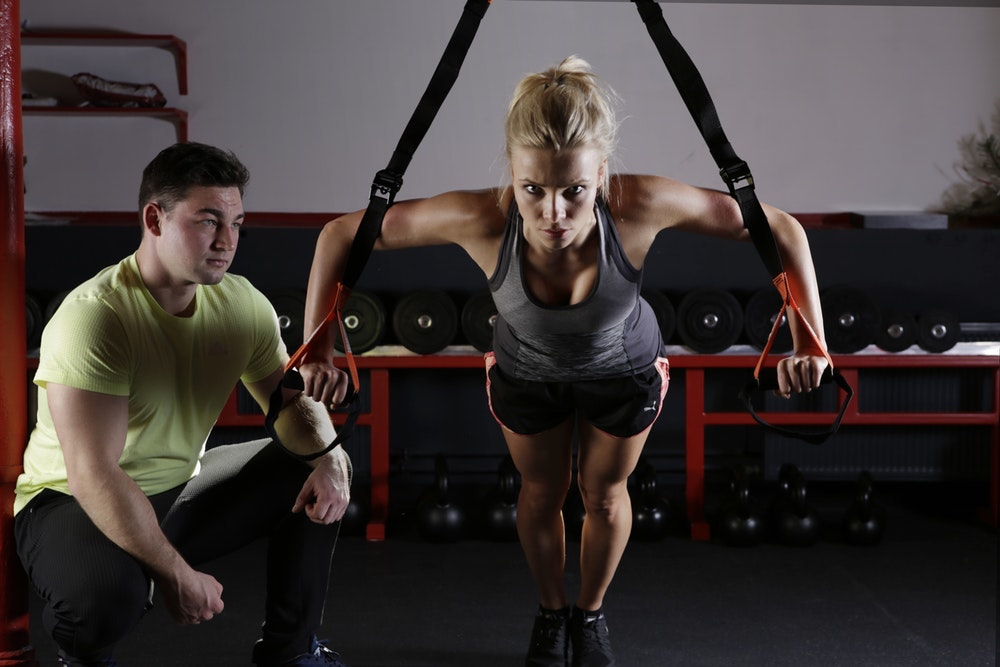 a fitness coach