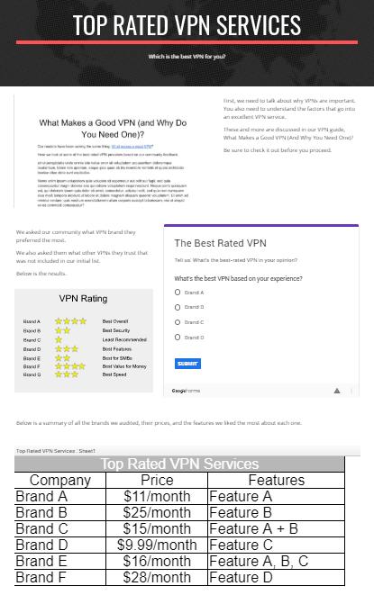 google site sample