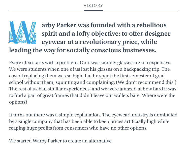 Warby Parker History