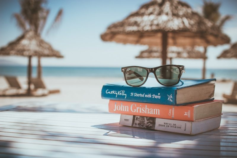 sunglass on the book