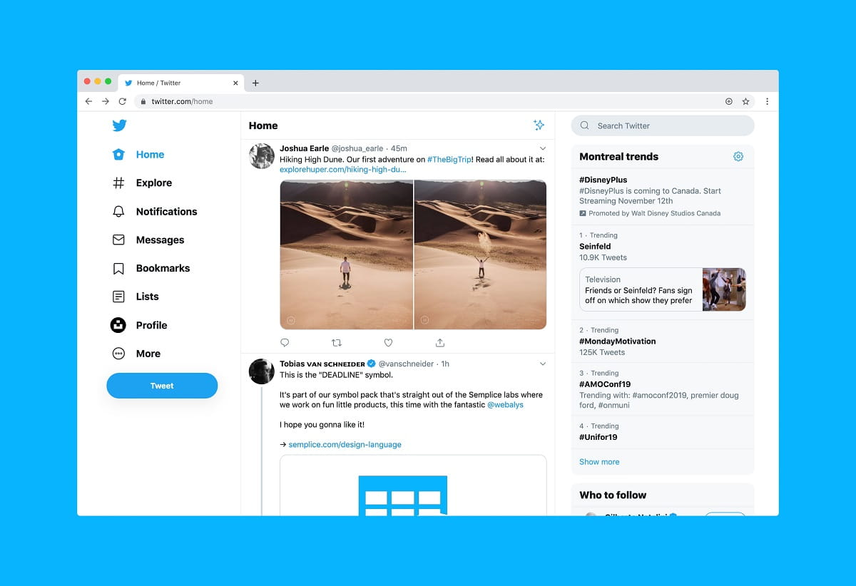 Twitter Website Screenshot
