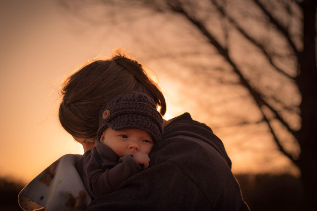 Mother hugging her Child