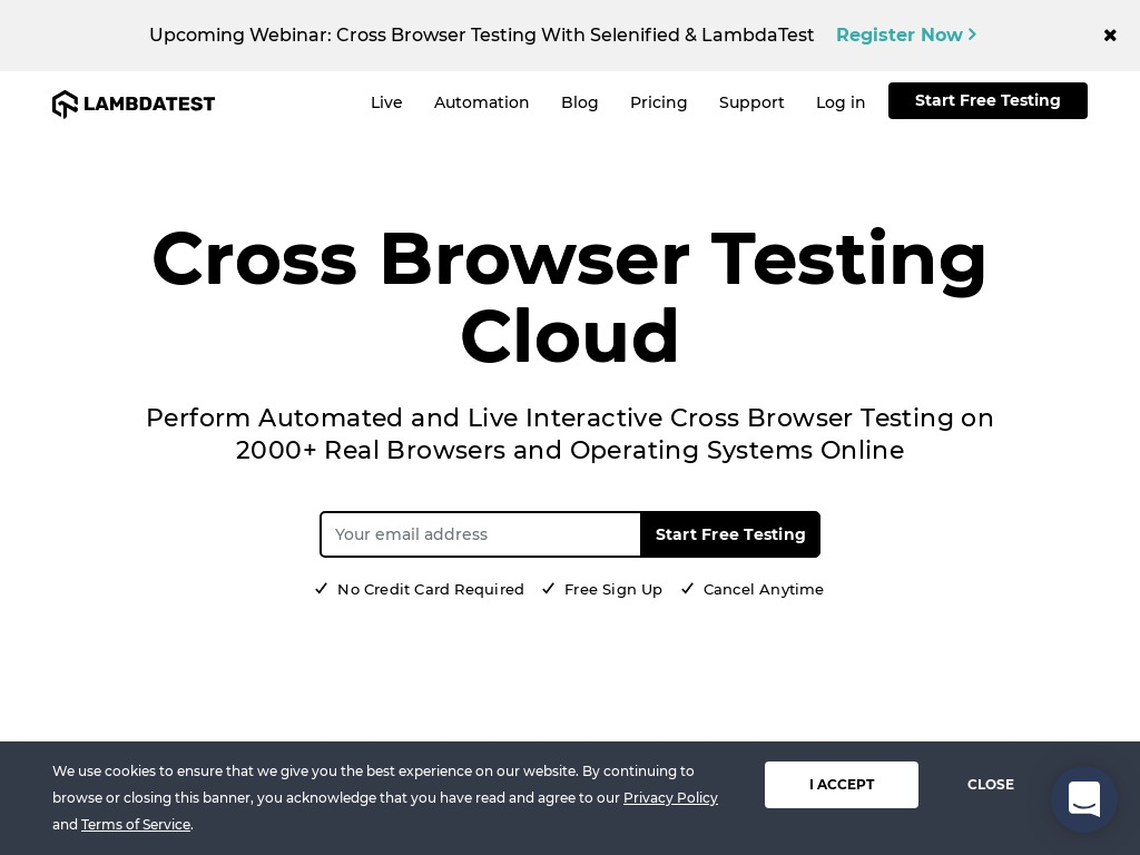 lambdatest - Cross Browser Testing Cloud