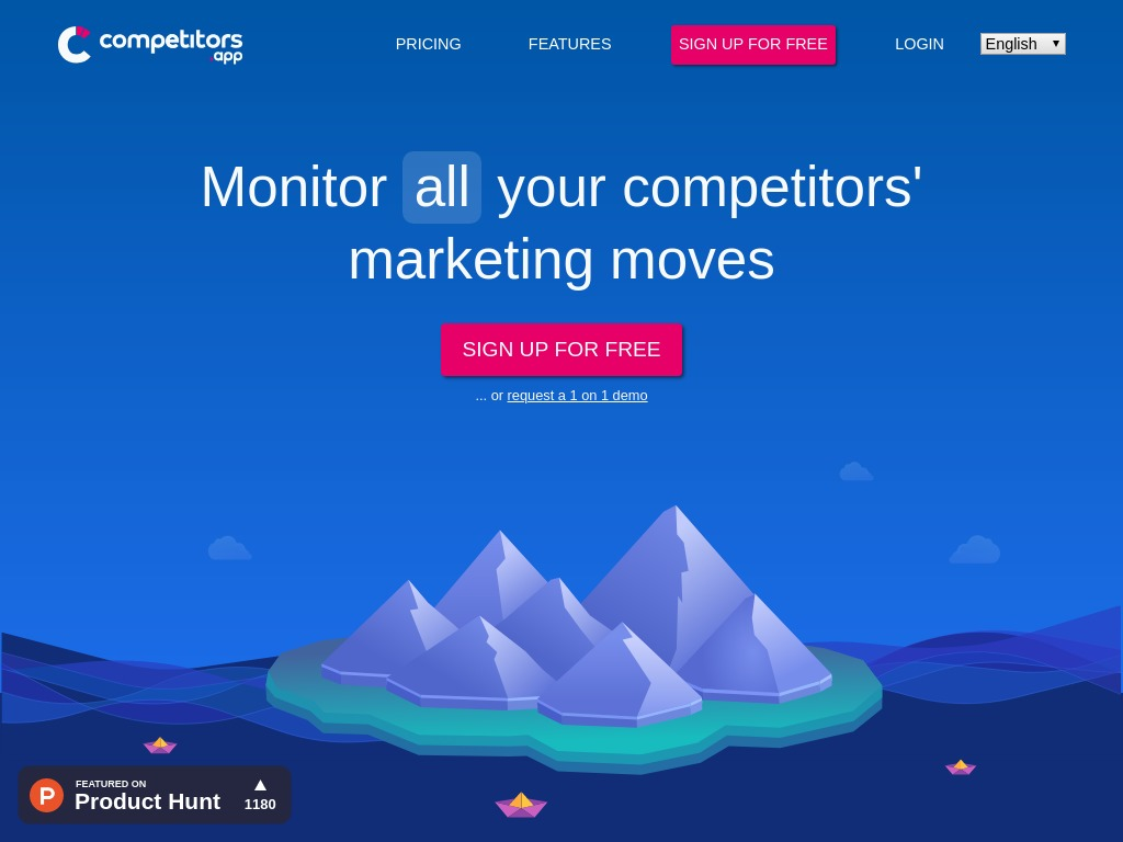 Competitors App Website