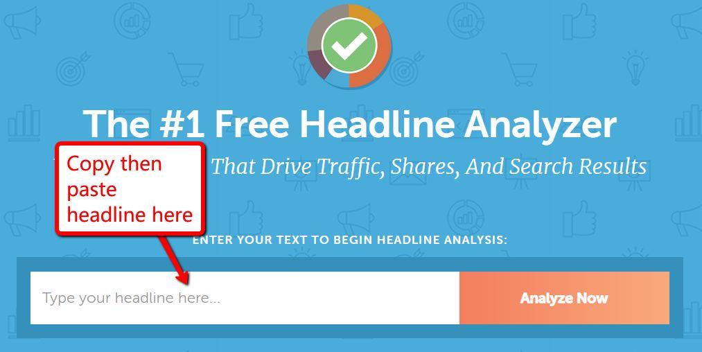 Use a headline analyzer