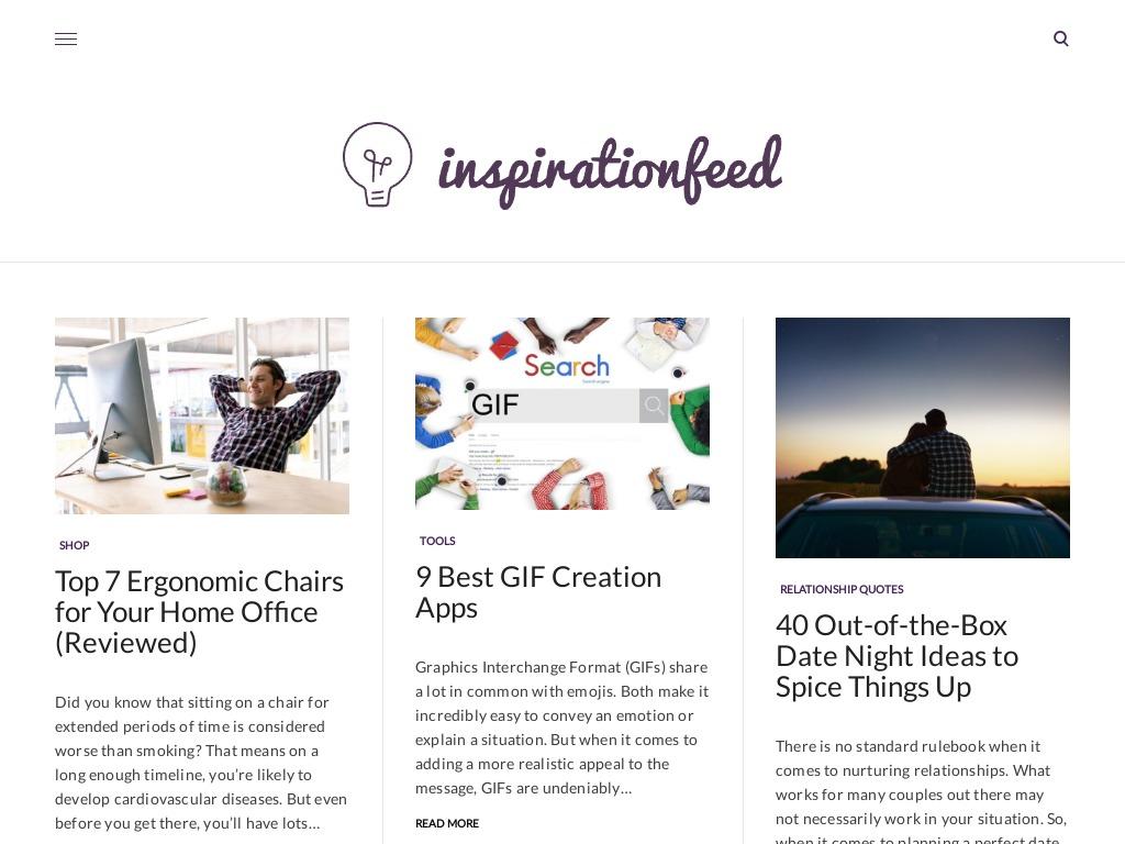 Inspirationfeed Website Screenshot