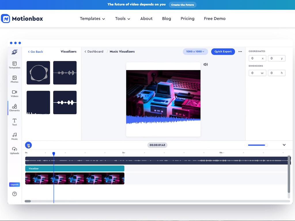 Motionbox Music Visualizer