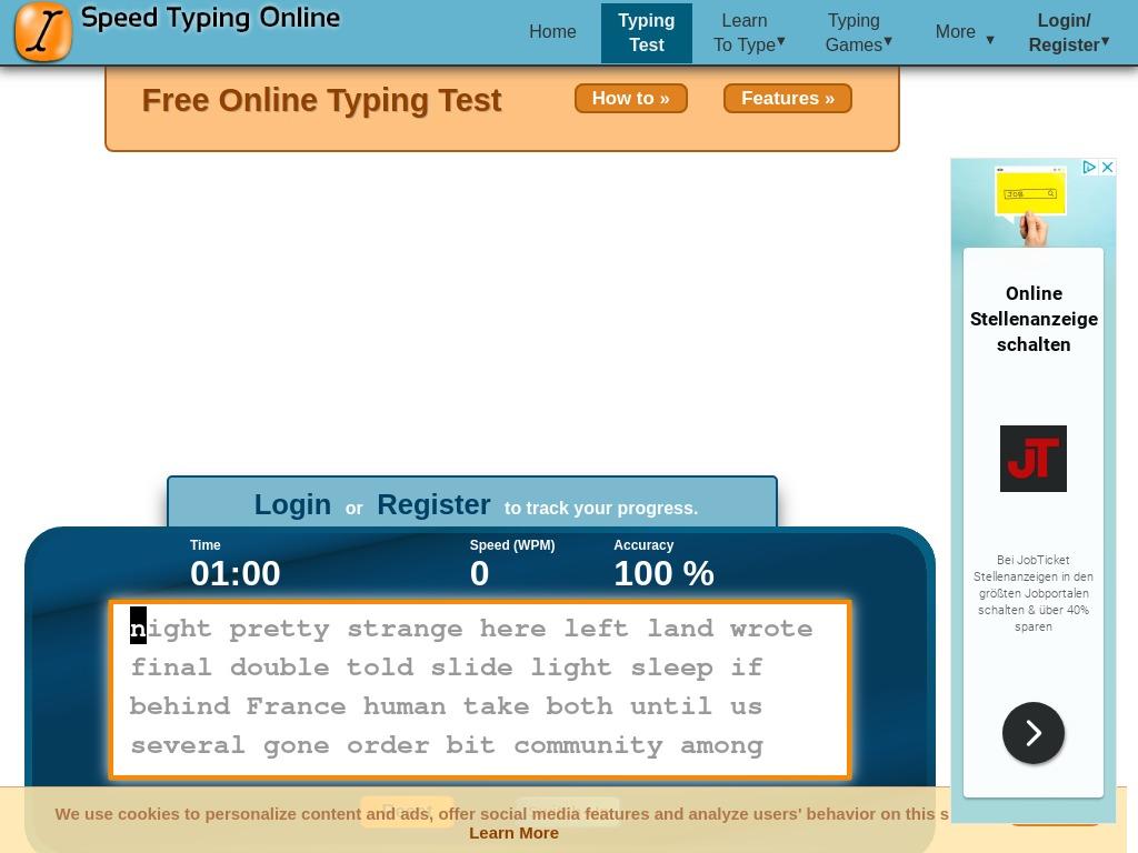Speed Typing Online