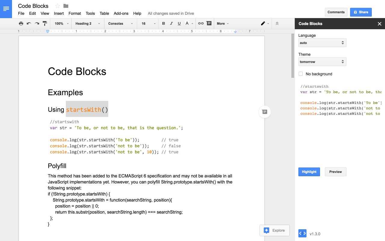 Code Blocks Alex Forsythe